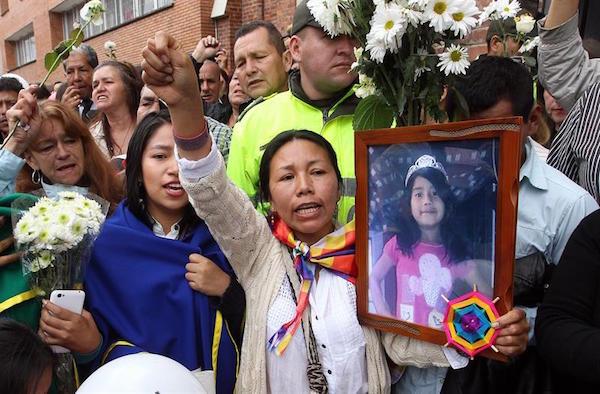 Protestas y clamores para que el crimen de Yuliana Andrea, por ningún motivo, vaya a quedar impune. Foto: semana.com