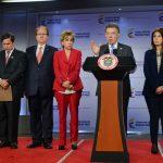 Presidente Santos se reunió con los dignatarios de las Altas Cortes