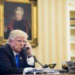 El presidente de EEUU, Donald Trump, durante la tensa conversación que mantuvo con el 'premier' australiano Malcolm Turnbull.