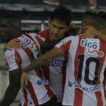 Junior celebra gol 1-1 con Millonarios290317