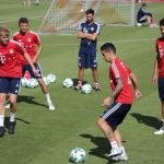 Entrenamiento James en el Bayer Munich2