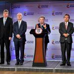Ministro de Hacienda, Mauricio Cárdenas, en anuncio de sanción de la Ley de Modificación al Código de Extinción de Dominio