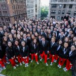 NYO-USA group photo on the Weill Terrace on Thursday, July 14, 2016.