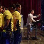 El Presidente Juan Manuel Santos dijo que Colombia se ha convertido en una potencia deportiva, tras ser primera en el medallero de los XVIII Juegos Bolivarianos, y anunció la creación del Ministerio del Deporte.