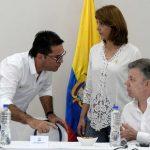 El Presidente Santos y la Canciller María Ángela Holguín durante la jornada de trabajo en Cúcuta en la se hace seguimiento al plan de atención y control de la migración de ciudadanos venezolanos hacia nuestro país.
