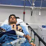 Óscar Sevilla debió ser sometido a cirugía por fractura en uno de sus brazos.Fuente : @paisadeportes