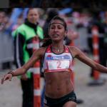 Kellys Arias en la Maratón de Boston 2018