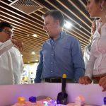 El Director de la UNGRD, Carlos Iván Márquez, y el Presidente Juan Manuel Santos, antes de instalar la VI Plataforma Regional para la Reducción del Riesgo de Desastres en las Américas.