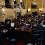 """""""¡Hoy el Congreso de Colombia entra, por fin, en el siglo XXI!"""", fueron las palabras iniciales del Jefe del Estado, Juan Manuel Santos, en la instalación del período de sesiones del Congreso 2018-2022, donde resaltó la pluralidad de congresistas."""