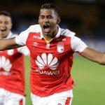 Celebración de Carlos Henao tras el segundo gol.