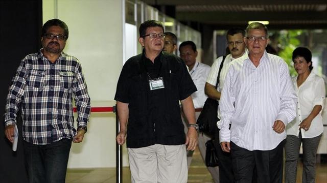 Delegados de las FARC en la Habana