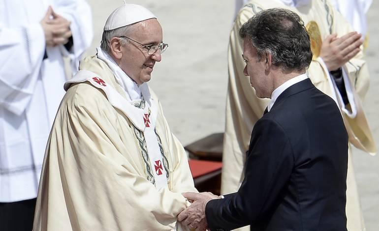 El Papa y el Presidente Santos
