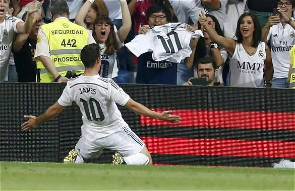 Gol, gol, gol ¡golazo! de James.