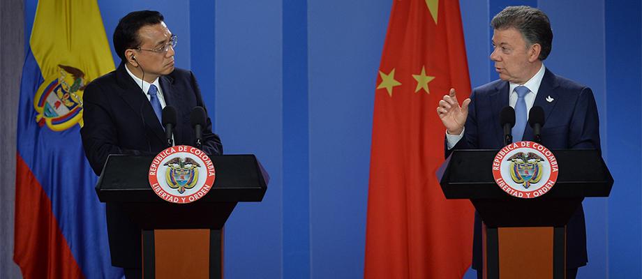 Ante el Primer Ministro de China, Li Keqiang, el Presidente Santos resaltó al apoyo al proceso de paz