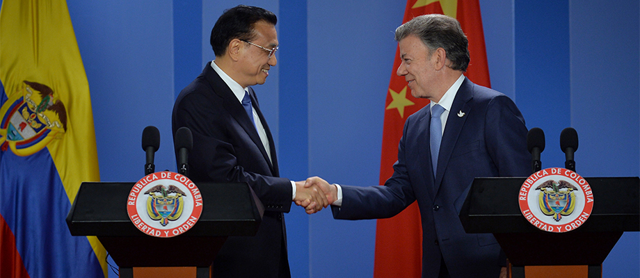 China es hoy nuestro segundo social comercial, destacó el Presidente Santos durante su encuentro con el Primer Ministro de ese país, Li Keqiang