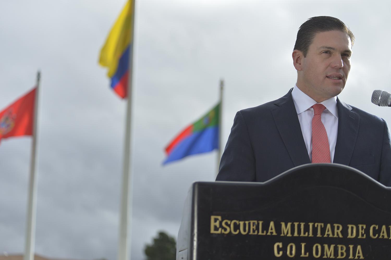 Declaraciones Ministro de Defensa nacional en la Escuela de Cadetes Jose Maria Córdoba