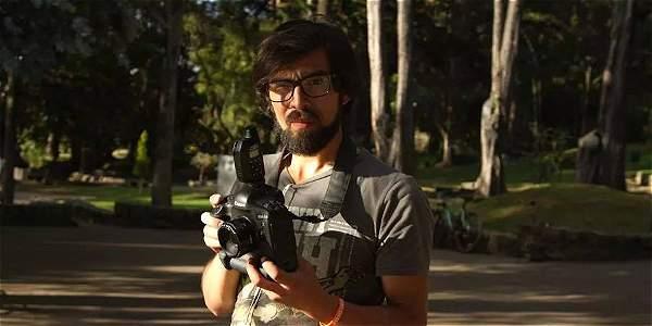Juan Páez, reportero gráfico de la agencia Colprensa.