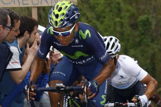 Nairo Quintana, quinto en la clasificación general de Tour de Romandia. Foto: Movistar Team