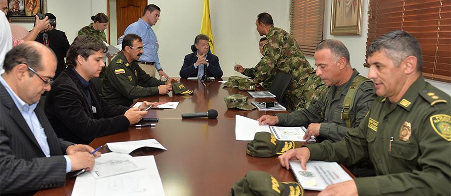 Presidente dirige Consejo de Seguridad en Medellín Medellín - 14 de mayo. Foto: Juan David Tena - SIG
