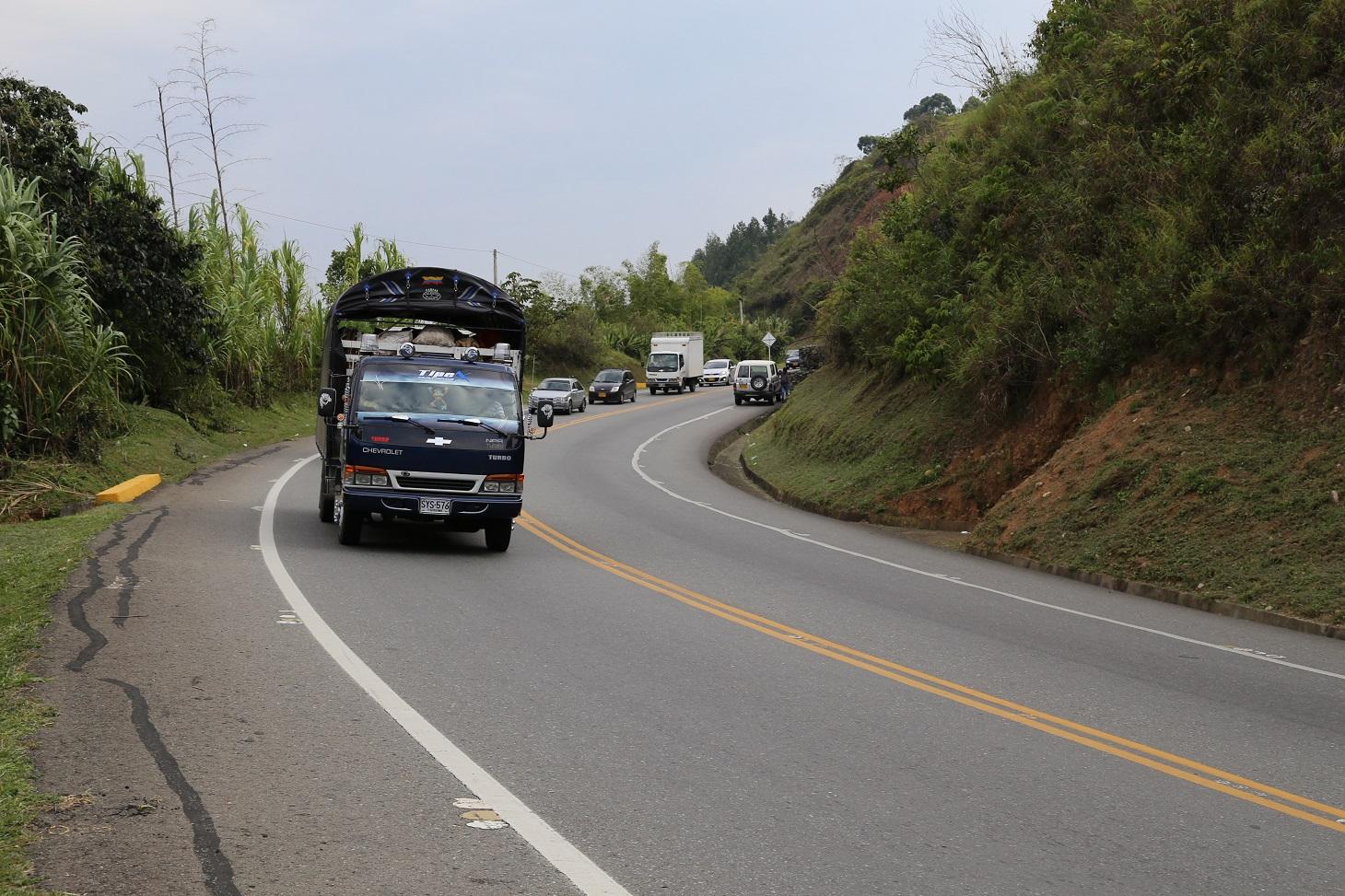 Vía Panamericana Popayán Santander de Quilichao
