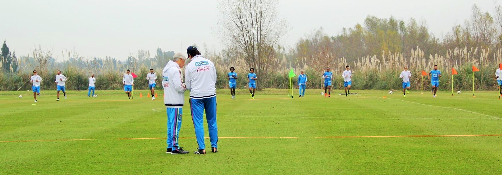 Colombia entreno en dos jornadas