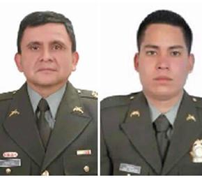Coronel Alfredo Ruíz y el patrullero Juan David Marmolejo