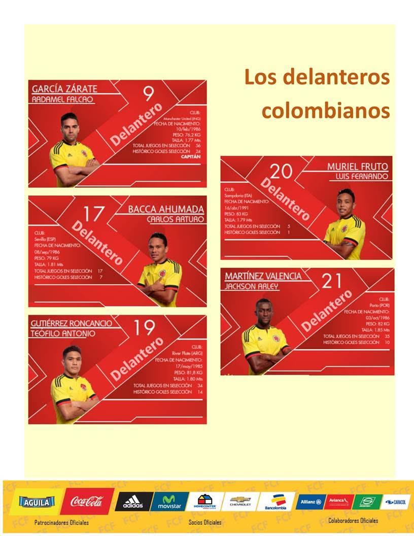 Delanteros de Colombia