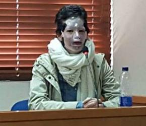 En los juzgados de Paloquemao, Natalia Ponce León