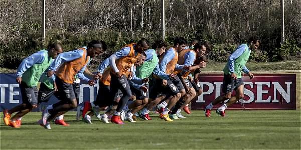 Entrenamiento de la selección de Uruguay previo a la Copa América.
