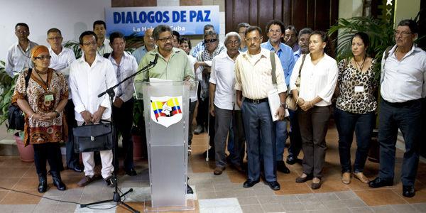 Negociadores de las Farc.