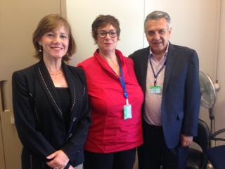 Linda Kromjong representante de los trabajadores en la OIT,Mintrabajo y Beatriz Londoño