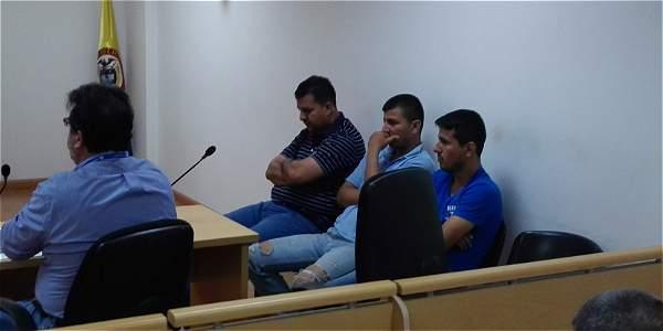 Los hermanos Óscar Eduardo, José Wilmer y Diego Armando Peñaranda