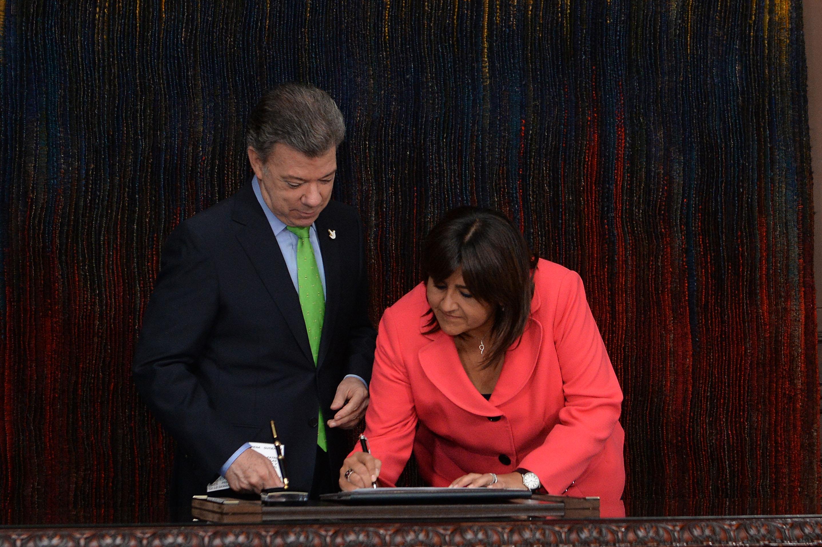 María Lorena Gutiérrez Botero como Ministra de la Presidencia