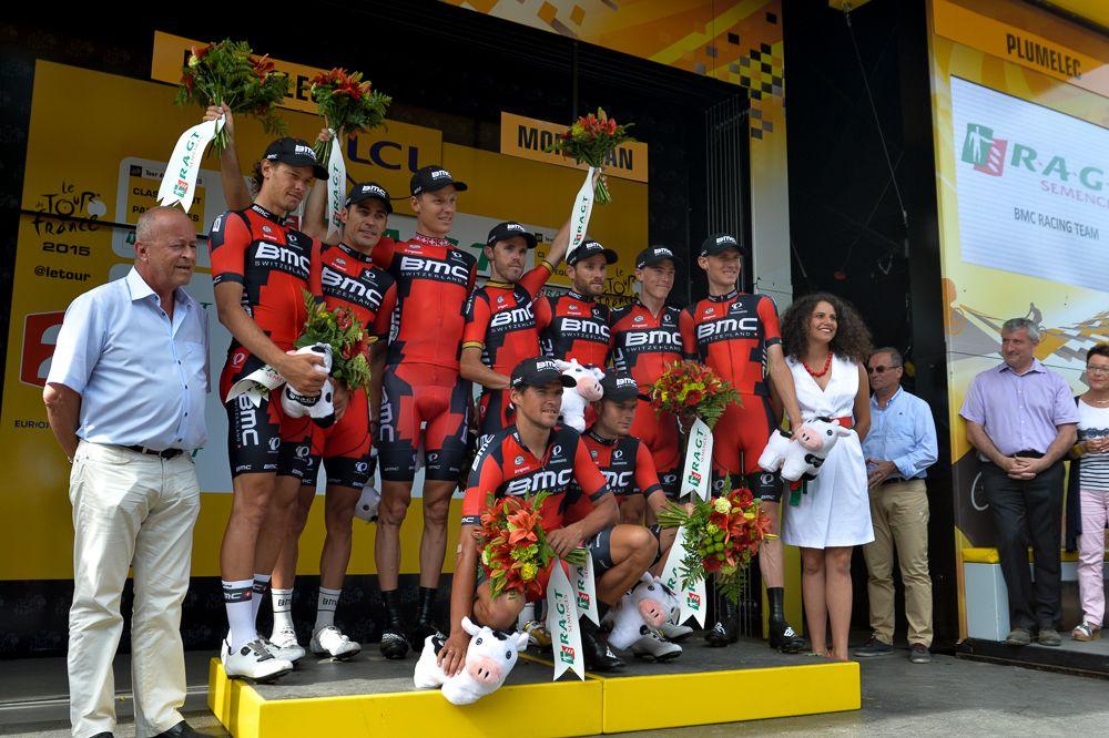 Tour de France 2015 - 12/07/2015 - 9ème Etape - Vannes / Plumelec - 28 Km CLM par équipe - BMC RACING TEAM meilleur équipe