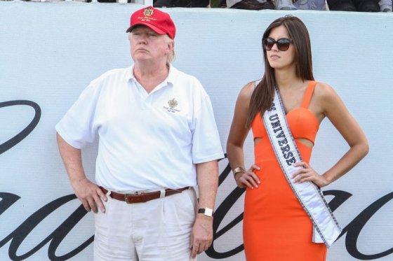 Donald Trump y Paulina Vega