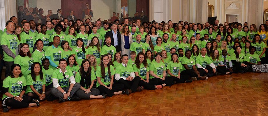 El Jefe del Estado dio la bienvenida a 200 profesores extranjeros que enseñarán inglés en Colombia