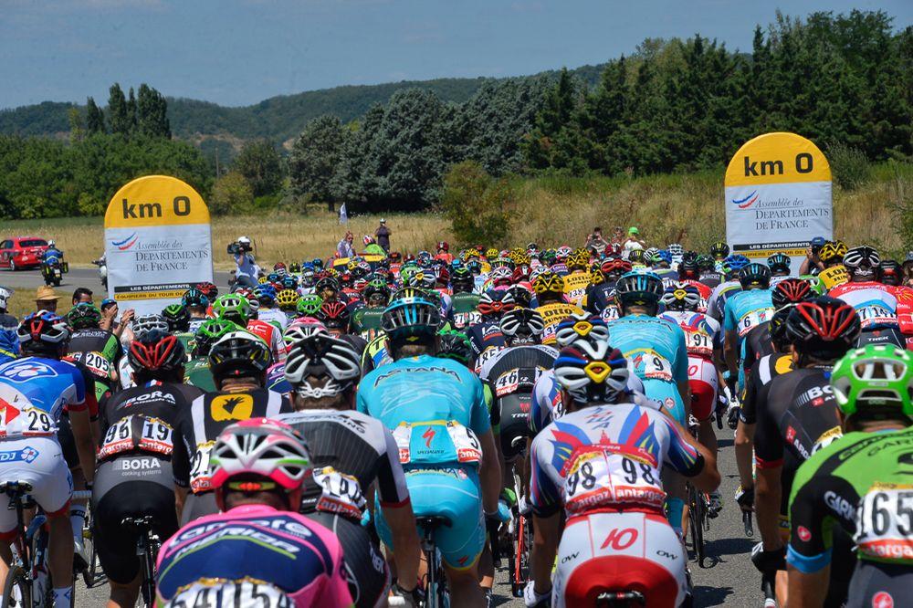 Tour de France 2015 - 20/07/2015 - 16ème Etape - Bourg de Péage / Gap - 201Km - Les coureurs au Km0