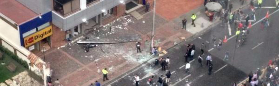 Explosión En Bogotá -desde-el-aire