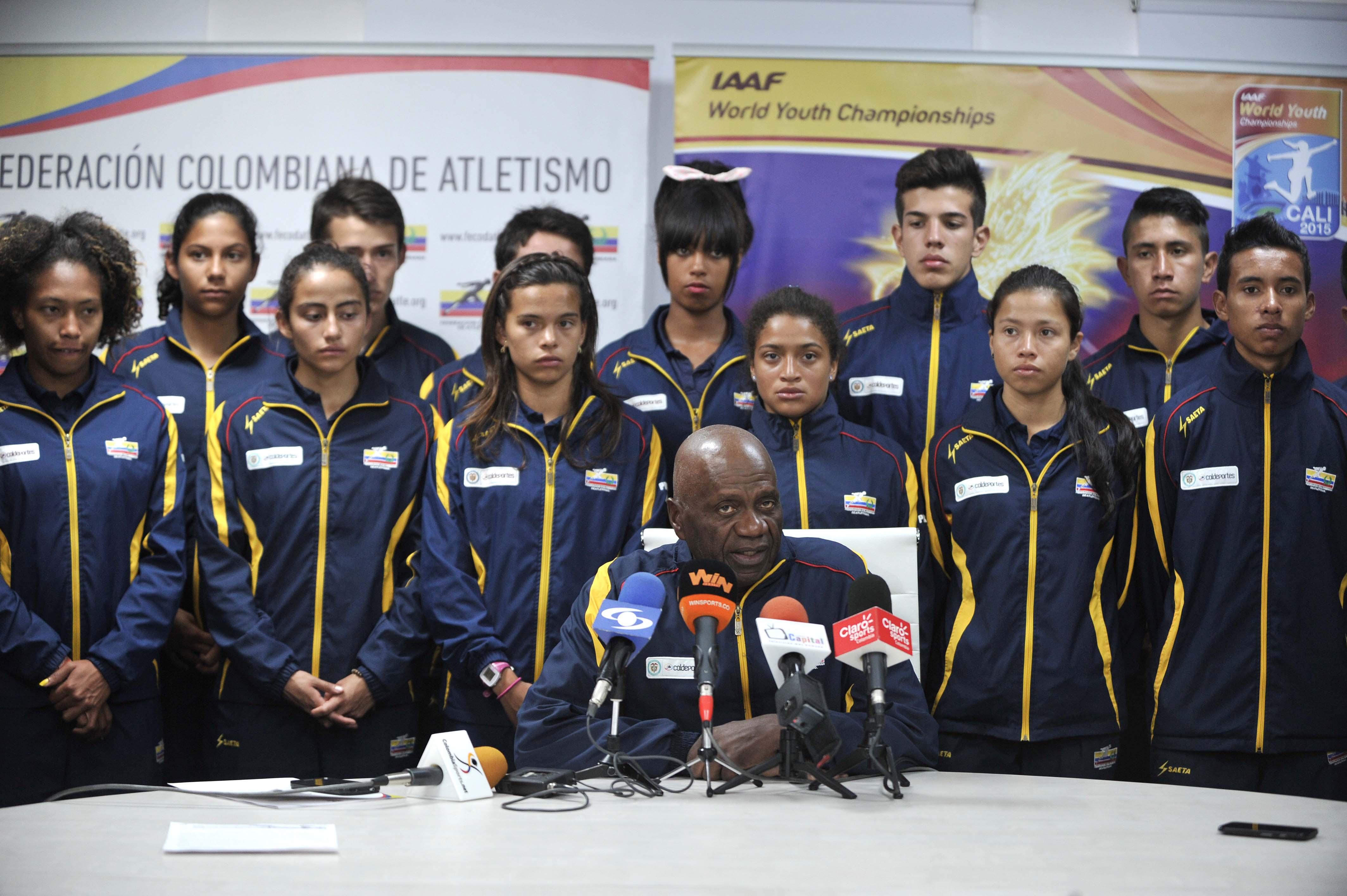 Foto 03 Seleccion Colombia Menores Atletismo y Valentin Gamboa