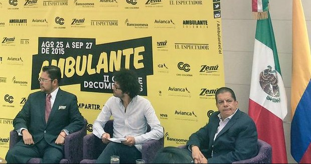 Los directores de Ambulante Colombia informaron en conferencia de prensa que la gira 2015 se compone de al menos 50 documentales. Foto tomada de la cuenta de Twitter @AmbulanteCol