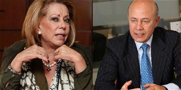 María Mercedes Cuéllar, una de las dos mujeres en la lista y Luis Eduardo Gómez, expresidente de Finagro.