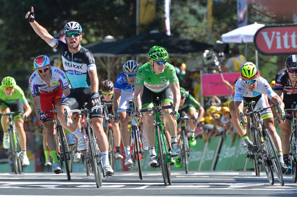 Tour de France 2015 - 10/07/2015 - 7ème Etape - Livarot / Fougére - 190,5Km - Mark CAVENDISH (EQS) renoue avec la victoire sur le Tour de France