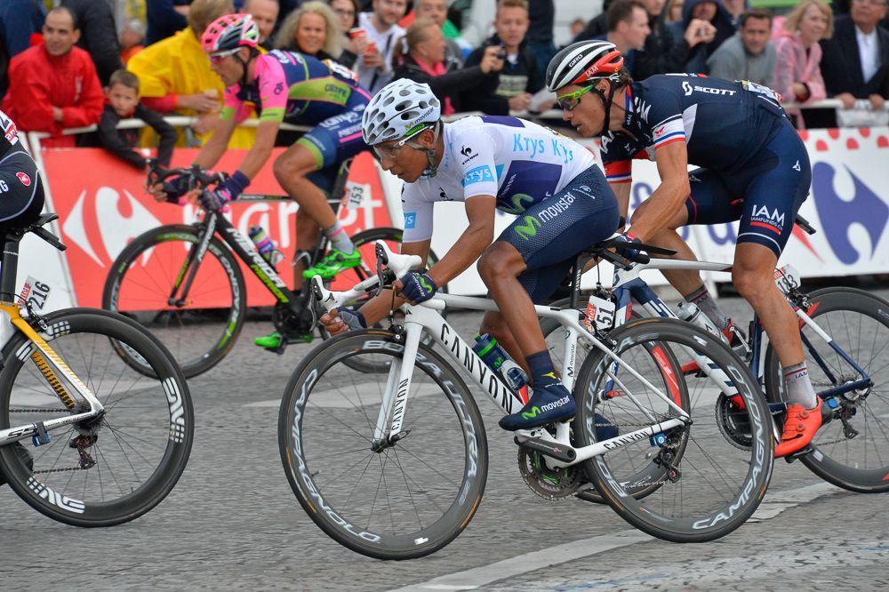 Tour de France 2015 - 26/07/2015 - 21ème Etape - Sevres / Paris - Champs Elysées - 109,5km - Nairo QUINTANA (MOV) Le Maillot Blanc