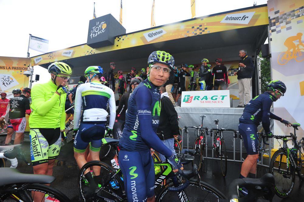 Tour de France 2015 - 08/07/2015 - 5ème Etape - Arras/ Amiens - Nairo QUINTANA (MOV) au départ