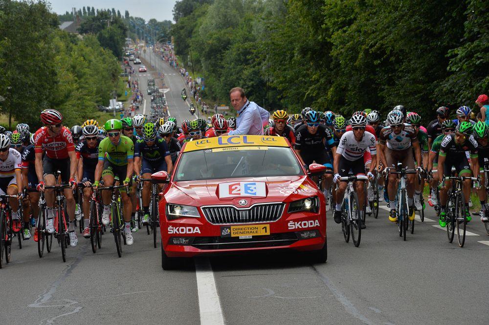 Tour de France 2015 - 11/07/2015 - 8ème Etape - Rennes / Mur de Bretagne - 181,5 Km - Les coureurs dans le défilé