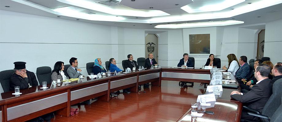 Presidente de la República se reunió en la Casa de Nariño con líderes de diversas confesiones religiosas Foto Juan Pablo Bello - SIG