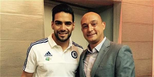 Radamel Falcao García, con la indumentaria del Chelsea. Foto: Tomada de Twitter