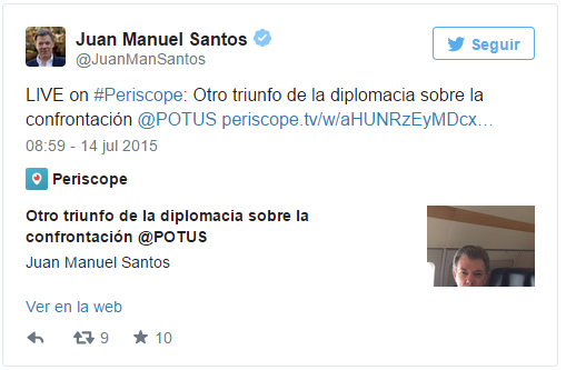 Santos Trina sobre  acuerdo nuclear