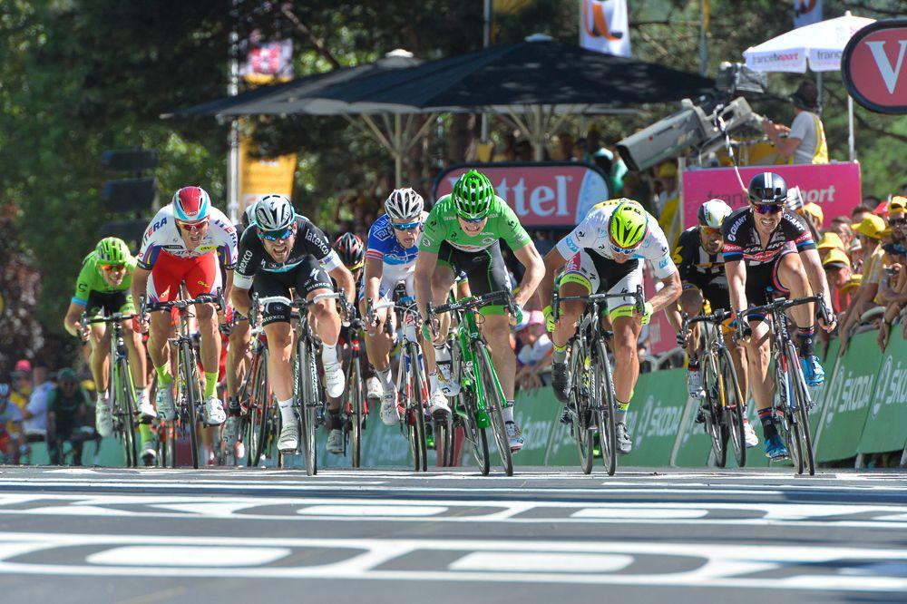 Tour de France 2015 - 10/07/2015 - 7ème Etape - Livarot / Fougére - 190,5Km -  Les rois du sprint en action