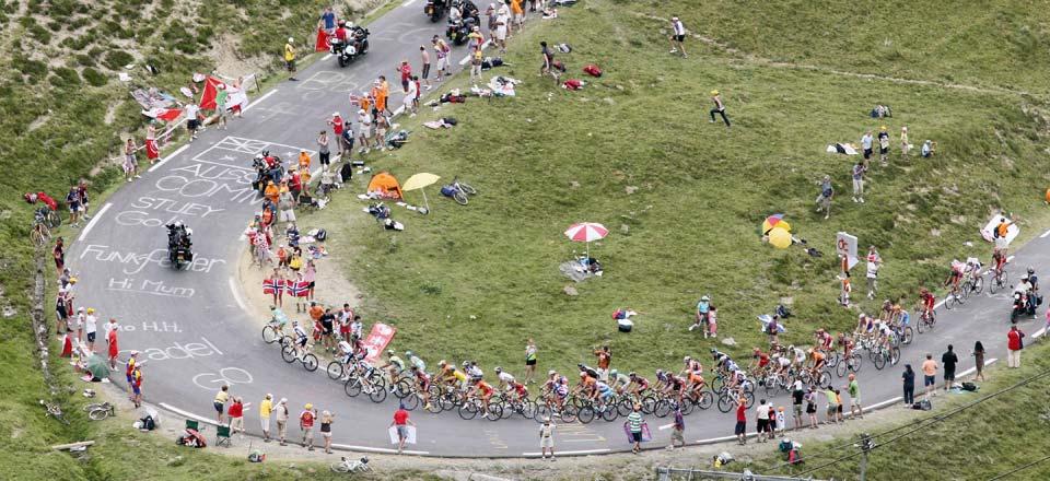 CYCLISME - TOUR DE FRANCE 2010 - BAGNERES DE LUCHON/PAU - col du Tourmalet (par la Mongie)